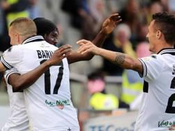 L'esultanza del Parma. Ansa