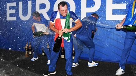 Francesco Molinari, 35 anni, dopo il trionfo. Getty Images