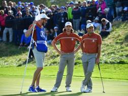 Tommy Fleetwood e Francesco Molinari (dx)