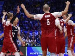 L'esultanza dei polacchi per la vittoria del Mondiale. Fivb.com