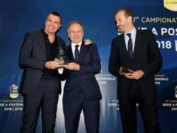 Il presidente Fip Gianni Petrucci, al centro, con Livio Proli e Simone Pianigiani CIAM/CAST