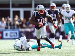 Josh Gordon, wide receiver dei Patriots AFP