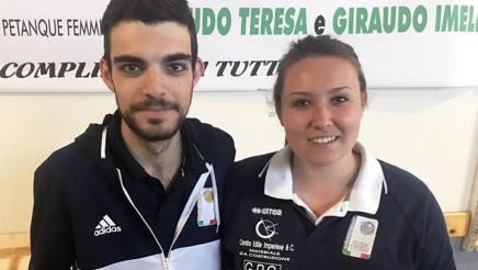 Diego Rizzi e Jessica Rattenni, stelle della Petanque italiana