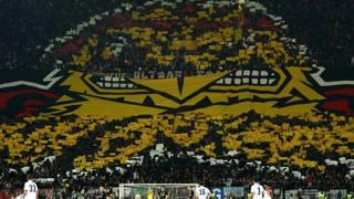 Eintracht - Lazio: che spettacolo sugli spalti