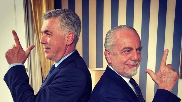 Carlo Ancelotti e Aurelio De Laurentiis.