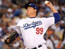 Hyun-Jin Ryu, 31enne sudcoreano, ha illuminato i Dodgers. Afp