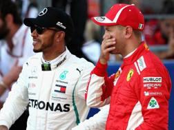 Lewis Hamilton e Sebastian Vettel. Getty
