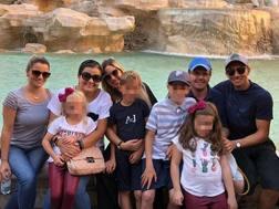 Lucas Leiva a Roma con la famiglia, INSTAGRAM