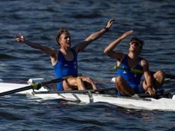 Nicolas Castelnovo e Alberto Zamariola , oro nel due senza. Epa