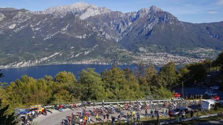 Lo scenario del Giro di Lombardia. Bettini