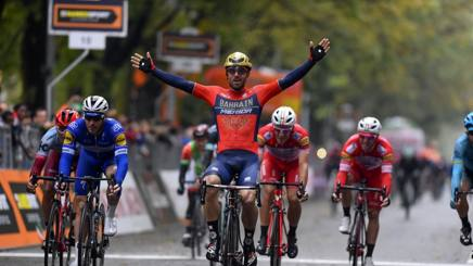 Lo sprint vincente di Sonny Colbrelli. Bettini