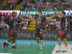 I giocatori di Perugia durante la Supercoppa chiusa al 4° posto
