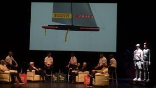 La presentazione di Luna Rossa a Trento