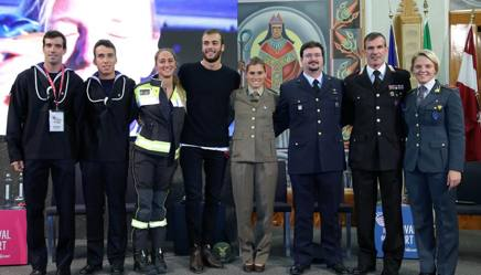 I campioni dei Gruppi Sportivi Militari intervenuti a Trento LIVERANI