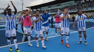 Vola a sorpresa il Pescara in Serie B: primo posto con 15 punti. LaPresse