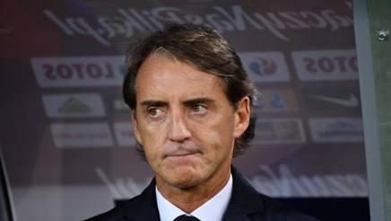 Il commissario tecnico della Nazionale, Roberto Mancini. Lapresse