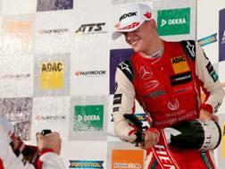 Mick Schumacher festeggia il titolo Euro F3. Afp
