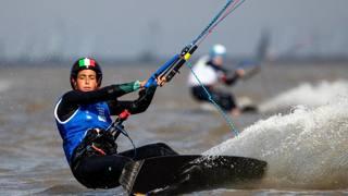 Sara Tomasoni, oro nel kite ai Giochi Olimpici giovanili. Epa