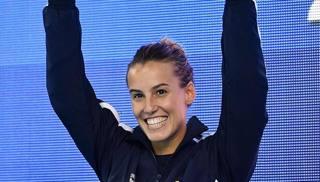 Il sorriso di Tania Cagnotto. Ansa