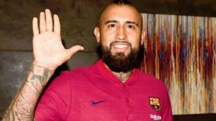 Arturo Vidal, centrocampista del Barcellona. Getty