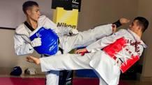 Taekwondo e fotografia: un momento dell'esibizione degli atleti del Lazio