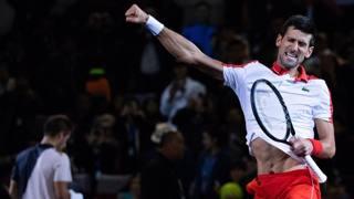 Novak Djokovic, 31 anni, esulta per la vittoria a Shanghai. Afp
