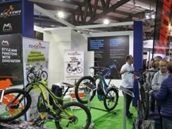 Un'immagine del padiglione riservato alle e-bike ad Eicma nel 2017.Eicma.it