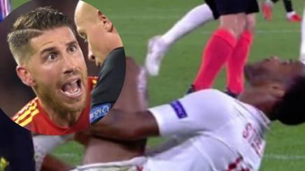 Sterling a terra dopo il presunto intervento di Ramos