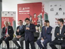 a sinistra Andrea Monti, Paolo Bellino, Urbano Cairo, Simone Bemporad e Andrea Trabuio. LaPresse