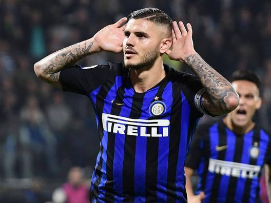 Mauro Icardi, capitano dell'Inter. Afp