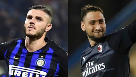 Mauro Icardi, 25 anni, e Gianluigi Donnarumma, 19. Afp-Lapresse