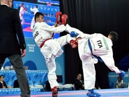 Rosario Ruggiero durante la semifinale persa contro il marocchino Sekouri. Ferraro-Coni