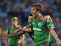 Tomas Pina, autore del gol partita contro il Celta Vigo, Epa