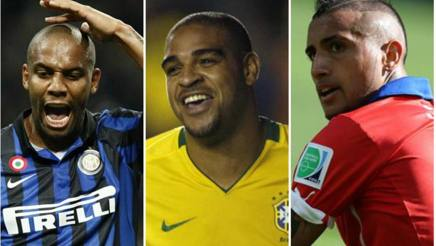 Maicon, Adriano; vidal