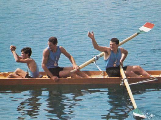 Primo Baran, Renzo Sambo e il timoniere Bruno Cipolla