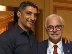 Il tecnico Andrea Giani , 48 anni, e il presidente Lucio Fusaro, 63 anni