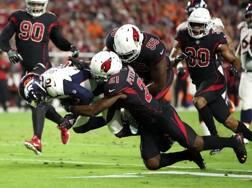 Il touchdown di Emmanuel Sanders. Afp