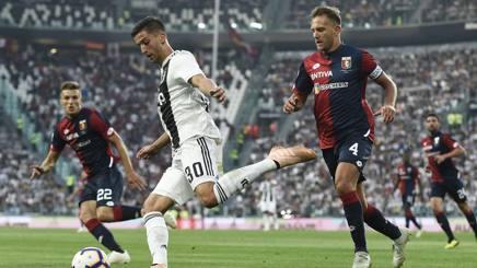 Un'azione del match giocato a Torino. Lapresse