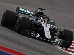 Lewis Hamilton, pole 81 della carriera. Epa