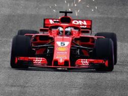 Sebastian Vettel in azione ad Austin. Afp