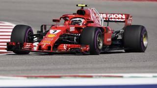 Kimi Raikkonen in azione ad Austin. Ap