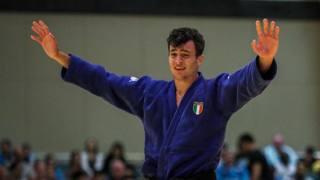 La gioia di Christian Parlati, oro negli 81 kg Juniores