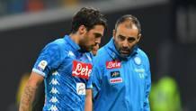 Verdi esce dal campo dopo l'infortunio con l'Udinese. Getty