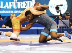 L'italo-cubano Abraham Conyedo durante l'incontro ai quarti con lo statunitense Snyder