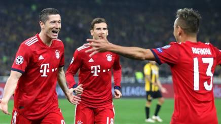 L'esultanza del Bayern Monaco. Getty