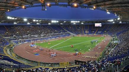 Lo Stadio Olimpico di Roma, dove questa sera alle 21 andrà in scena Roma - CSKA Mosca, GETTY