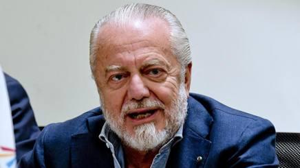 Aurelio De Laurentiis, presidente del Napoli. Ansa