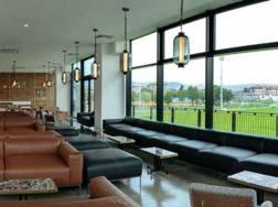 Il ristorante con vista sui campi da rugby