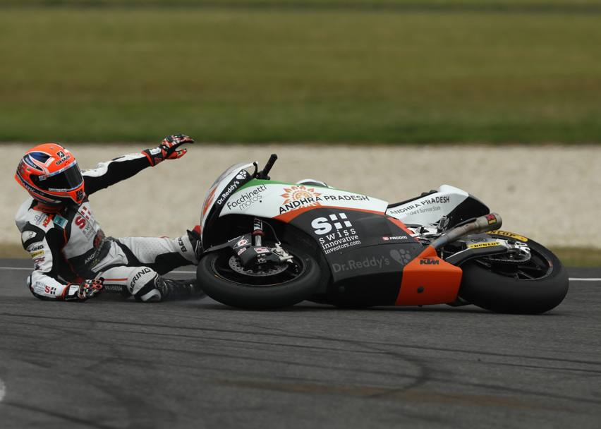 Anche Sam Lowes a terra nella Moto2. Getty Images
