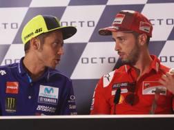 Valentino Rossi e Andrea Dovizioso. LaPresse